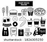 fast food takeaway vector...   Shutterstock .eps vector #1826305250