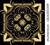 gold floral vintage seamless...   Shutterstock .eps vector #1826305349
