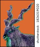 The Image Of A Mountain Goat On ...