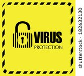 virus design over yellow... | Shutterstock .eps vector #182632130