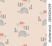 seamless pattern in... | Shutterstock .eps vector #1826326259