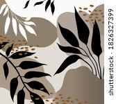 abstract tropical leaves... | Shutterstock .eps vector #1826327399