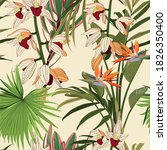 seamless floral tropical print... | Shutterstock .eps vector #1826350400
