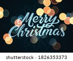 merry christmas. calligraphic... | Shutterstock .eps vector #1826353373