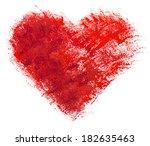 watercolor heart. concept  ...   Shutterstock . vector #182635463