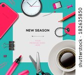new season invitation template... | Shutterstock .eps vector #182635850