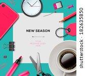 new season invitation template... | Shutterstock .eps vector #182635850