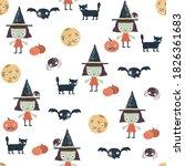 happy halloween seamless... | Shutterstock .eps vector #1826361683
