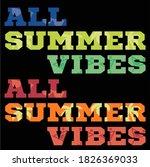 vector illustration of summer... | Shutterstock .eps vector #1826369033