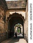 Small photo of 30-10-2009 – 10:03:16 gate to the capital city Srirangapatnam which was Tipu Sultan's Capital, built by Tipu in late 1700, nearer to Mysore city, Srirangapatnam Karnataka India