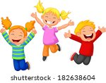 happy kid cartoon | Shutterstock . vector #182638604