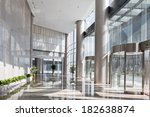 empty hall in the modern office ... | Shutterstock . vector #182638874