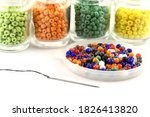 Color Beads With Needle.beads...