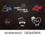 a collection of happy father's... | Shutterstock . vector #182642804