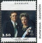 denmark   circa 1997  postage... | Shutterstock . vector #182645054