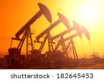 oil pumps. oil industry... | Shutterstock . vector #182645453