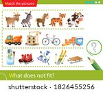 logic puzzle for kids. what... | Shutterstock .eps vector #1826455256