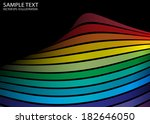 rainbow color vector abstract