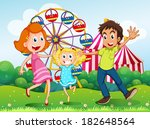 illustration of a happy family... | Shutterstock . vector #182648564