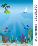 marine life | Shutterstock .eps vector #182651930