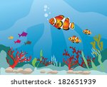 multicolor fish in marine life | Shutterstock .eps vector #182651939