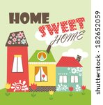 home sweet home | Shutterstock .eps vector #182652059