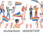 lgbtq pride vector flat... | Shutterstock .eps vector #1826567249
