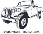 Old Jeep Car 4 Wd Classic