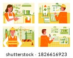 miscellaneous work in different ... | Shutterstock .eps vector #1826616923
