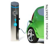 electric vehicle charging... | Shutterstock . vector #182665796