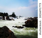 Khone Phapheng Waterfalls The...