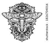 tattoo and t shirt design black ... | Shutterstock .eps vector #1826704016