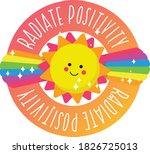 happy motivational radiate...   Shutterstock .eps vector #1826725013
