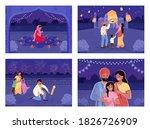 people celebrate hindu holiday... | Shutterstock .eps vector #1826726909
