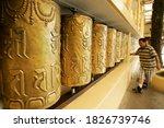 Prayer Wheels Buddhist Temple...