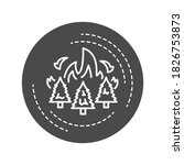 forest fires black glyph icon....