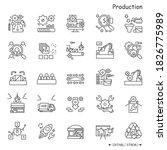 production line icons set.... | Shutterstock .eps vector #1826775989
