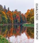 Autumn Landscape Of Colorful...