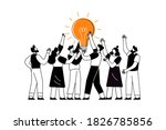 the concept of joint teamwork ... | Shutterstock .eps vector #1826785856