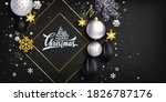black stylish christmas... | Shutterstock .eps vector #1826787176