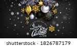 black stylish christmas... | Shutterstock .eps vector #1826787179