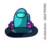 among us game character...   Shutterstock .eps vector #1826790983