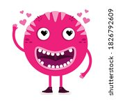 Pink Cool Monster With Smile...