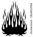 tribal flames silhouette vector ... | Shutterstock .eps vector #1826813966