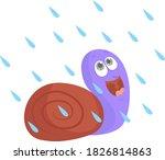 Snail On The Rain  Illustratio...