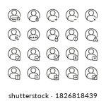 simple set of login related... | Shutterstock .eps vector #1826818439