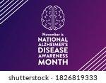 november is national alzheimer...   Shutterstock .eps vector #1826819333