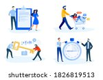 set of people concept... | Shutterstock .eps vector #1826819513