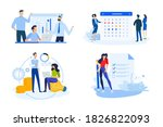 set of people concept... | Shutterstock .eps vector #1826822093