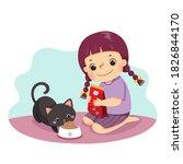 vector illustration cartoon of... | Shutterstock .eps vector #1826844170